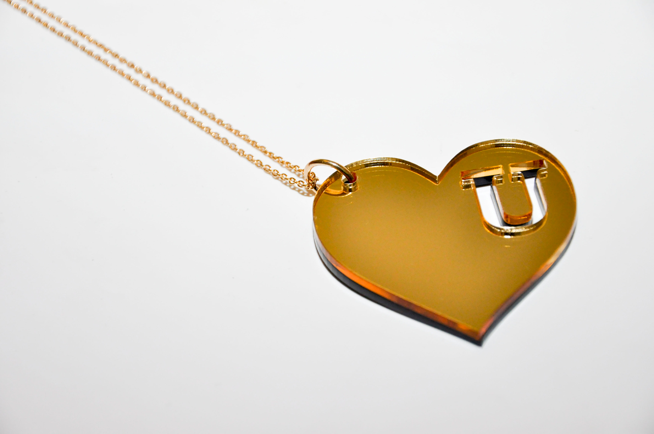Black & Gold Heart Chain