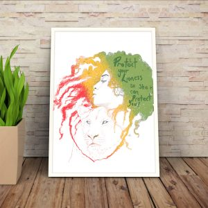 Protect-your-lioness-print