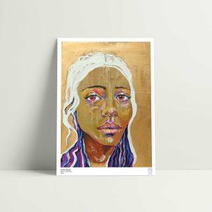 Golden wonder art print by Roxanne Williams