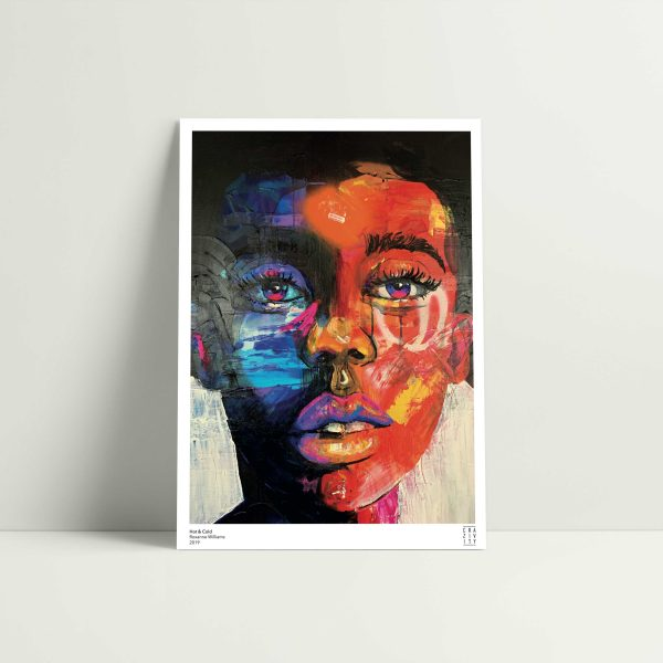 Hot-and-cold art print unframed